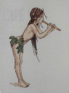 Embroidery Neocraft The Magic Flute Cross Stitch Fairy, Cross Stitch Angels, Cross Stitch Needles, Counted Cross Stitch Patterns, Cross Stitch Charts, Cross Stitch Designs, Cross Stitch Embroidery, Embroidery Patterns, Dragons