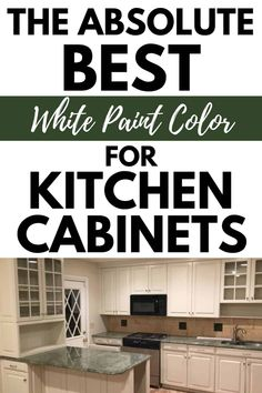 This is the absolute best White paint color to paint your Kitchen Cabinets. #kitchen #whaitepaint # painting #paintcolors# cabinets Off White Paints, Best White Paint, White Paint Colors, Benjamin Moore White, Benjamin Moore Paint, Cabinet Paint Colors, Cottage Kitchens, Farmhouse Style Kitchen, Trim Color