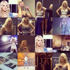 Blown Away Tour behind the scenes collage