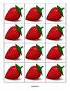 Strawberries cards counting, hiding and finding, composing and decomposing sets.