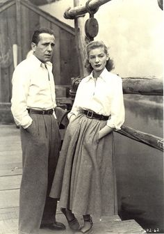 Bogart and Bacall by athena glow, via Flickr