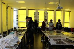 Landscape Architecture and Architecture teamed up to deliver a taster day in the Arts Tower, University of Sheffield. Yellow windows for the Tour de France.