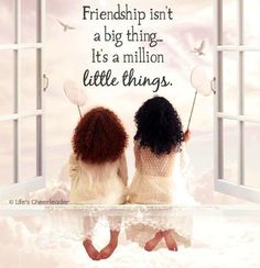 Friendship quote Via life's cheerleader on Facebook