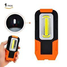 Lampe de Torche LED Lampe Baladeuse a 3W COB LED Batterie Portable Ultra Puissante avec Base Magnétique Lot de 1 de Enuotek: Matériel:…