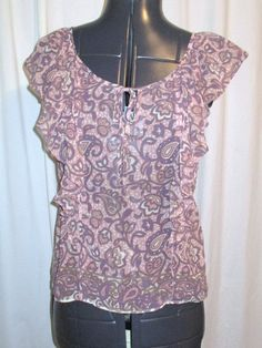 Item number- 381594887881 Women's (Size X) AMERICAN EAGLE OUTFITTERS Floral Print Top Sheer Cap Sleeves #AmericanEagleOutfitters #Blouse #Casual