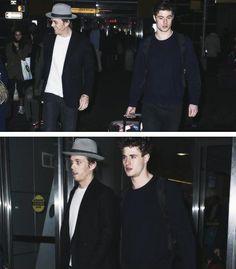 Jake Abel & Max Irons at the airport.