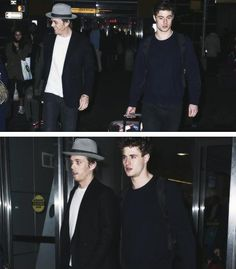 Jake Abel & Max Irons at the airport.