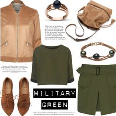Army green and beige