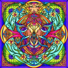 Mandalas : Metamorphosis Print by Carole Stevens Bibisi