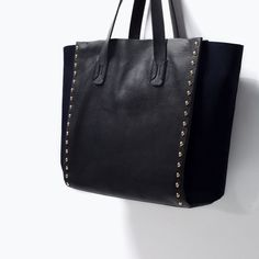 $160 STUDDED LEATHER SHOPPER BAG-View all-Handbags-WOMAN | ZARA United States