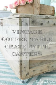 CF Vintage Coffee Table With Casters Outdoor Space