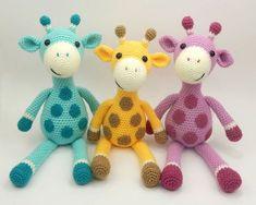 Giles the Giraffe Crochet Pattern by Moji-Moji Design