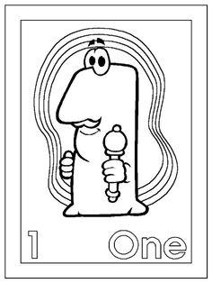 Activipeques: Inglés: los números: one