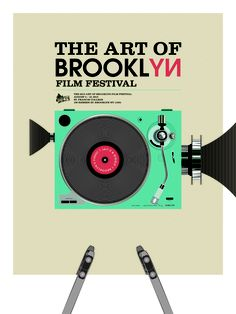 "an entry for ""The Art of Brooklyn Film Festival"" poster contest. Film Contests, Brooklyn Film, Film Festival Poster, Film Posters, Festivals, Star, Illustration, Prints, Color"