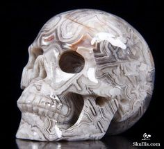 Lace Agate Crystal Skull
