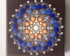 Original Small Pastel Mandala Painting on by CreateAndCherish