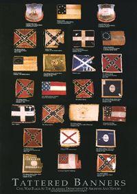 battle flags alabama | Tattered Banners Art