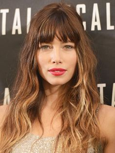 Jessica Biel's Awesome Hair Makeover: Daily Beauty Reporter : Jessica Biel has lightened up for the last few weeks of the season, trading in her blunt bangs and rich brunette color for beachy, piecey fringe and ombré highlights. Did we mention we love it? The transformation took just three...