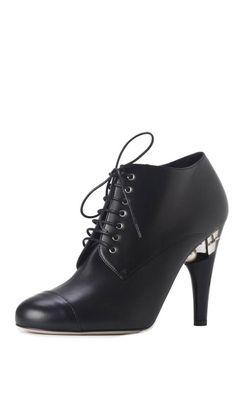 Chanel black ankle boot only at Amuze #designerdiscount