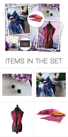 """Purple Autumn Day's Delight"" by jarmgirl ❤ liked on Polyvore featuring art and vintage"