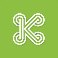 The letter K via Jessica Hische's Daily Drop Cap #typography #design