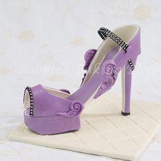 Purple Passion Fondant High Heel Shoe
