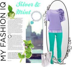 """Silver & Mint"" by elenastrelkova on Polyvore"
