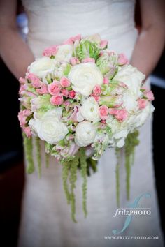 pink and white vintage bouquet  wedding flowers, portland or  http://sophisticatedfloral.com/