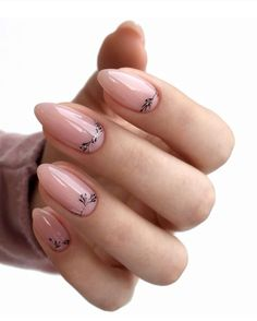 Pink gel short oval nails design, acrylic short oval nails design for s Prom Nails, Wedding Nails, Long Nails, Oval Nails, Nude Nails, Glitter Nails, Acrylic Nails, Spring Nail Art, Spring Nails