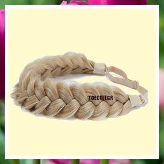 (This is an affiliate pin) TOECWEGR Synthetic Hair Braided Headband Classic Chunky Wide Plaited Wedding Fluffy Braids Wig Women Girl Beauty Accessory (A010-10) Fashion Headbands, Braids Wig, Headband Styles, Plaits, Synthetic Hair, Braided Hairstyles, Wigs, Classic, Wedding