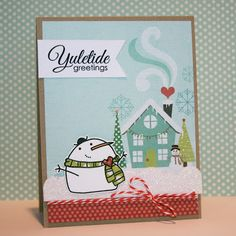 Yuletide Greetings card by Heather Campbell