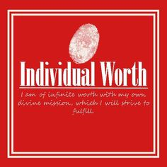 Daily Personal Progress  Individual Worth 7