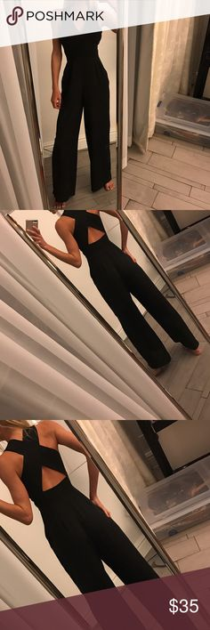 Long Elegant romper (not nasty) from London Super cute, XS, as new Nasty Gal Pants Jumpsuits & Rompers