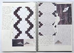 Fashion Sketchbook surface pattern design based on butterflies