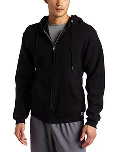 Russell Athletic Men's Dri Power Hooded Zip-up Sweatshirt, Black, Large Russell Athletic, Athletic Men, Athletic Fashion, Athletic Outfits, Full Zip Hoodie, Fleece Hoodie, Hoodie Jacket, Winter Outfits Men, Business Casual Men
