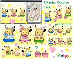 Pikachu Cosplay pack papercraft by Antyyy.deviantart.com on @DeviantArt