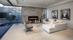 Beautiful open living room design. Los Angeles, Laguna Beach Architecture Projects | McClean Design