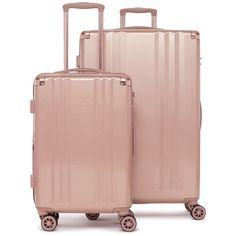 Women's Calpak Ambeur 2-Piece Spinner Luggage Set (925 BRL) ❤ liked on Polyvore featuring bags, luggage and rose gold