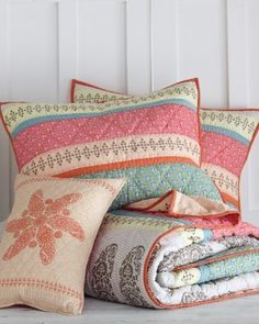 Preppy Paisley Quilt and Sham...love love love!  Thanks Kas!