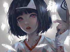 female anime character in white top wallpaper black hair short hair red eyes Nora (Noragami) anime girls looking at viewer fantasy girl Noragami Anime, Nora Noragami, Manga Anime, Manga Girl, Anime Art, Anime Girls, Short Hair Anime, Short Red Hair, Short Hair Styles