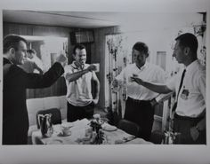 "Original 1963 8"" x 10"" Photo of Gordon Cooper Toasting Astronauts on Launch Day"