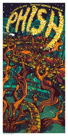 James Flames Phish Poster 12/30/12 from New York City