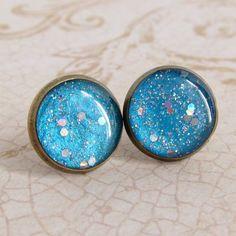 Sky Blue Earrings, Post Earrings