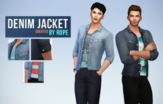 Denim Jacket by Rope at Simsontherope via Sims 4 Updates