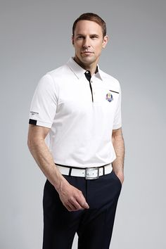 Official Ryder Cup 2016 Mens Luxury Piping Detail Golf Polo Shirt