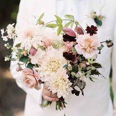 Wedding Wednesday :: Blush Bridal Bouquets