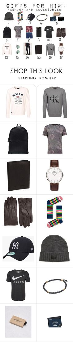 """gifts for him fashion"" by matildaaa on Polyvore featuring Calvin Klein, Kiomi, Ray-Ban, adidas Originals, Tiger of Sweden, New Era, men's fashion and menswear"