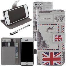 Funda de piel sintética para Apple iPhone 5y 5S se, Urvoix (TM) Flip Cover [Londres] W/Stand Función/Cierre magnético/ID Tarjeta de Crédito Caja Soporte - http://www.tiendasmoviles.net/2016/09/funda-de-piel-sintetica-para-apple-iphone-5-y-5s-se-urvoix-tm-flip-cover-londres-wstand-funcioncierre-magneticoid-tarjeta-de-credito-caja-soporte/