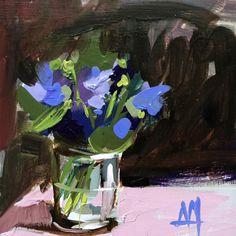 Purple Violets no. 5 Original Oil Painting by Angela Moulton pre-order