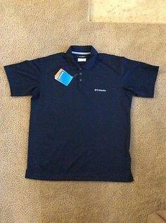 aa1b72b712f Columbia Omni-Shield Shade SPF 30 Men s Blue Short Sleeve Shirt So Med. C